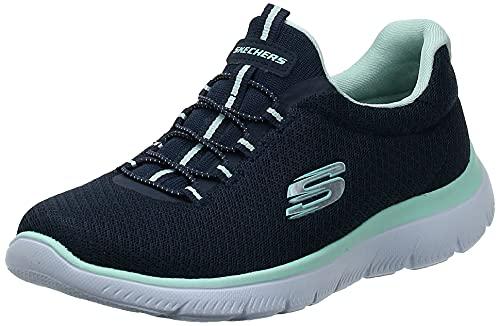 Skechers Summits, Zapatillas Mujer, Azul (Navy/Aqua), 38 EU