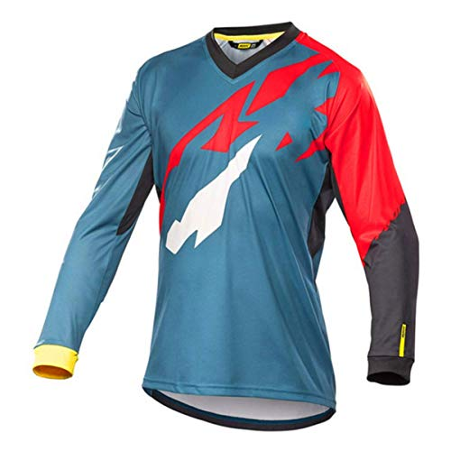 Bwchuxin Camisetas De Ciclismo MTB para Hombres, Maillot De Ciclismo De Manga Larga, De Secado...*