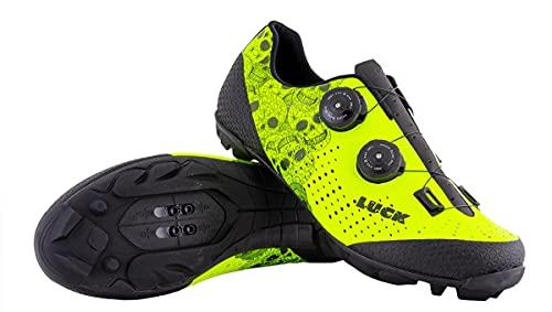 LUCK Zapatillas MTB Galaxy Calaveras. Zapatos Ciclismo Montaña para Hombre y Mujer. Suela de...*