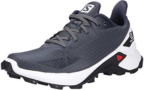 Salomon Alphacross Blast Mujer Zapatos de trail running, Azul (India Ink/White/Black), 39 ⅓ EU