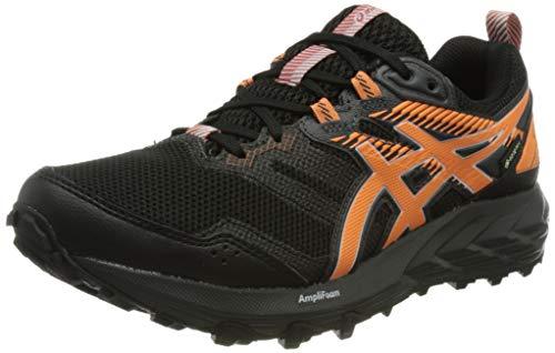 Asics Gel-Sonoma 6 G-TX, Trail Running Shoe Mujer, Black/Sun Peach, 39.5 EU*