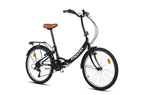 Moma Bikes Top Class 24 - Bicicleta Plegable Urbana, Cambio Shimano TZ-50 6 vel, Ruedas de 24″ con...*