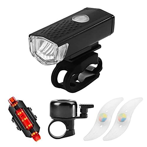 Conjunto de Luces de Bicicleta, Luces Bicicleta Impermeable LED,Juego de Linterna Bicicleta...*