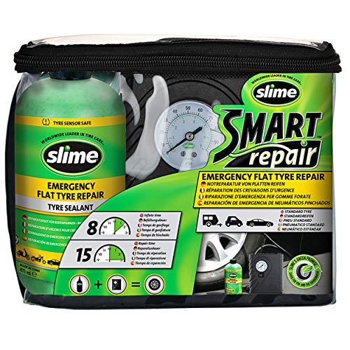 Slime CRK0305 - Kit de Reparación de Pinchazos Inteligente, Incluye Sellador y Bomba de Aire,...*