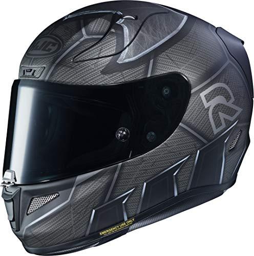 HJC Helmets Rpha11 DC Comics Batman Integralhelm Casco para Motocicleta, Hombre, Negro Mate MC5SF, XS (54/55)