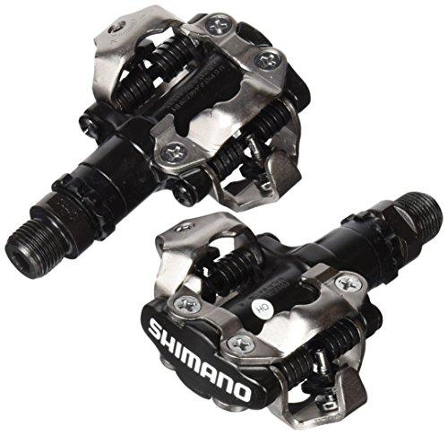 SHIMANO 3E4-4AC - Pedales SPD para Bicicleta, 380 g, Color Negro y Plateado