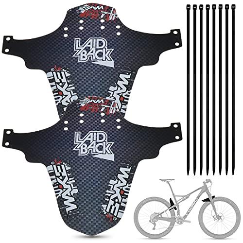 PAWT Guardabarros para bicicleta de montaña, 2 unidades, 26 pulgadas, 650B, 27,5 y 29 pulgadas, guardabarros para bicicleta de montaña con cable de conexión