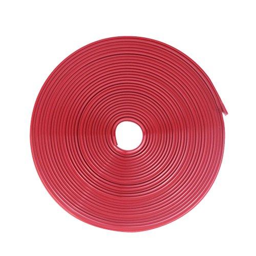 WINOMO Pegatinas Llantas Cinta Adhesivos Ruedas Borde para Moto Coche 8M (Rojo Brillante)*