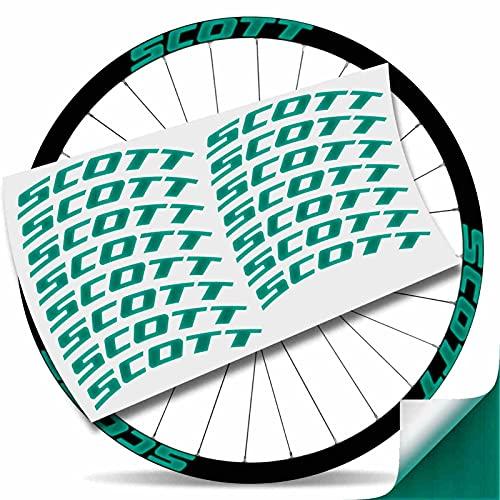 Kit Pegatinas Pegatinas Stickers LLANTA Scott 29' BTT MTB (Verde Reflectante)