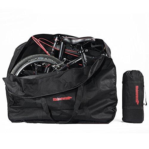 Selighting Bolsa Transporte Bicicleta Plegable, Bolsa de Almacenamiento de Bici Bolsa para el Manillar Bolso Plegable para el Envío de Viajes Aéreos, 20 Inch (Negro)