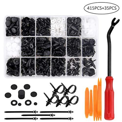 Remaches Plastico, Preciva Clips Coche para Guardabarros Coche, Plastico Panel, etc ( 415 Pcs )