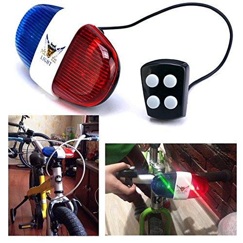 Itian Sirena Timbre para Bicicleta - Bocina electrónica con luz para Bicicleta (4 Sonidos)