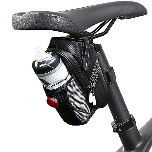 VUENICEE Bolsa Bicicleta Impermeable,Bolsa para Sillín de Bicicleta,Alforjas Bicicleta con Luz(Tres...*