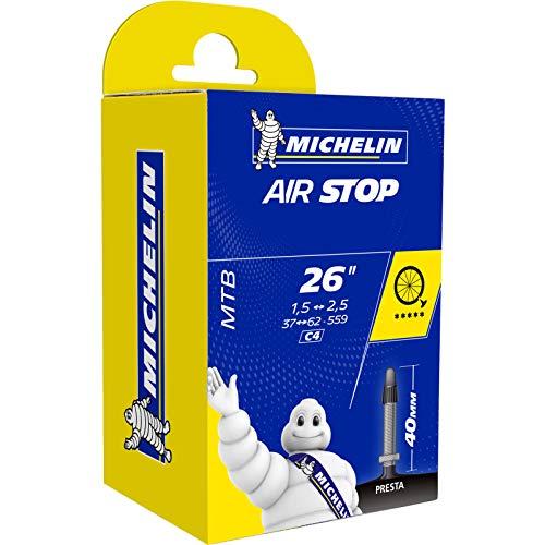 Michelin C4 26x1.5/2.5 Cámara 26X1.45/2.60 V.Bici, Unisex Adulto, Negro, Presta 60 mm