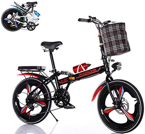 Bicicleta Plegable de 6 velocidades Variables Foldable Bicycle con Marco de Acero de Alto Carbono de...*