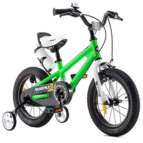 RoyalBaby Bicicletas Infantiles niña niño Freestyle BMX Ruedas auxiliares Bicicleta para niños 18...*