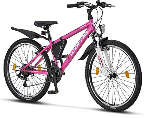 Licorne Bike Guide Bicicleta de montaña de 26 pulgadas, cambio de 21 velocidades, suspensión de...*