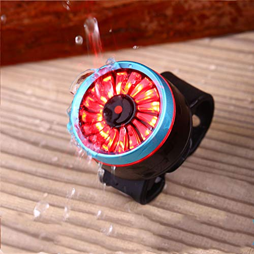 Asvert Luz Trasera de Bicicleta Inteligente Ultra Brillante,LED USB Recargable, Impermeable, Advertencia, 5 Modos, luz Trasera para Bicicleta, Super Brillante Rojo Luz LED(Azul)
