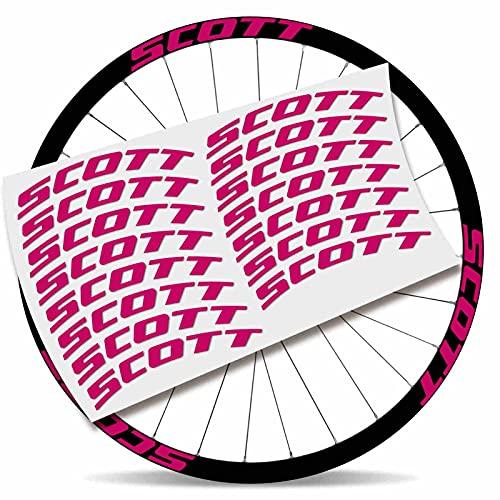Kit Pegatinas Pegatinas Stickers LLANTA Scott 29' BTT MTB (Rosa)