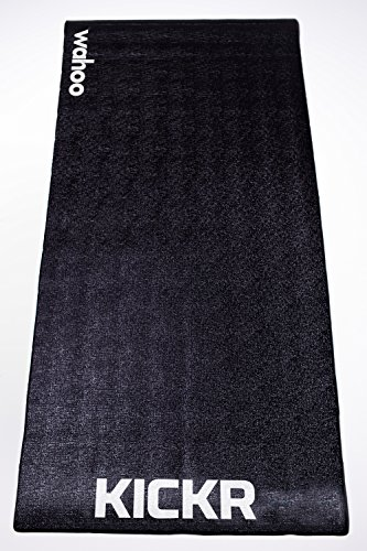 Wahoo KICKR Trainning Mat, color negro, 91.4 x 198.1 cm*