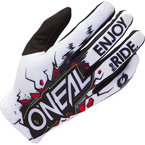 O'NEAL | Guante de Ciclismo Motocross | MX MTB DH FR Downhill Freeride | Materiales duraderos y Flexibles, Palma ventilada | Matrix Youth Glove Villain | Niños | White Multi | Talla XL