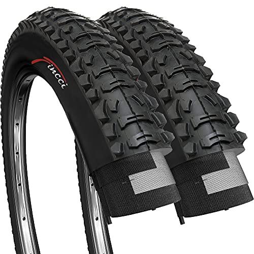 Fincci Par Carretera de Montaña Bicicleta Híbrida Neumático para Plegable Cubiertas 26 x 1,95*