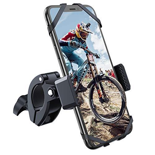 YOSH Soporte Movil Bicicleta, 360° Rotación Soporte Movil Moto, Anti Vibración Porta Telefono Motocicleta para iPhone 12 Pro MAX 12 Mini 11 Pro MAX XS XR Samsung S21 S20 y Otro 3.5-6.7'