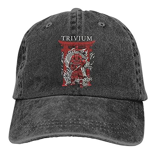 Hdadwy Trivium Shogun Unisex Camping Vintage Jeans Gorra de béisbol Algodón clásico Sombrero de...*