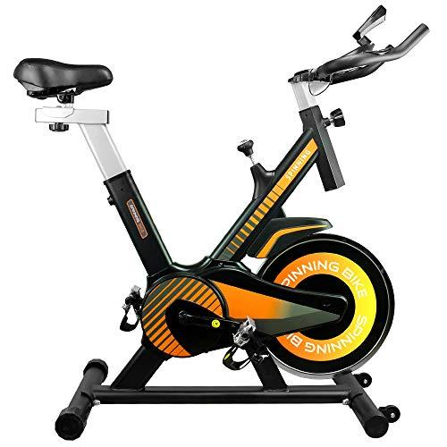 Gridinlux. Bicicleta estática Ciclo Indoor, Pantalla LCD táctil, Volante de Inercia 10 kg, Pulsómetro, Resistencia Variable, Altura Ajustable, Indoor, Unisex