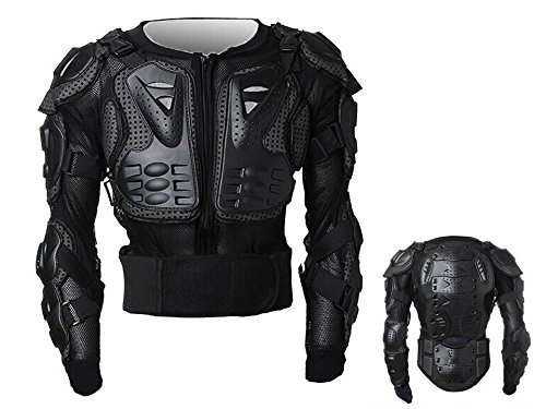 MONTALIN Peto Integral Moto, Motocross, Enduro, chaqueta Proteccion NEGRO M L XL XXL XXXL (L)*