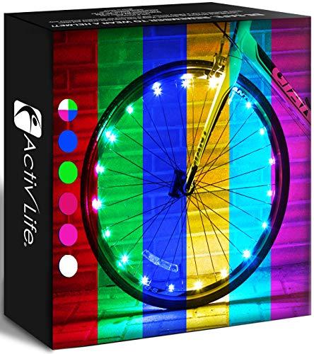 Activ Lites 1-Pack - ¡Luces LED para Ruedas de Bicicleta con baterías Incluidas! Obtenga un 100%...*