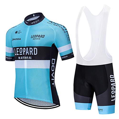 Conjunto Ropa Ciclismo Hombre Maillot Ciclismo y Culotte/Pantalones Cortos Malla Transpirable y Cremallera Completa