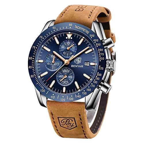 BENYAR Sport Casual Reloj de Pulsera de Cuarzo analógico Impermeable para Hombres*