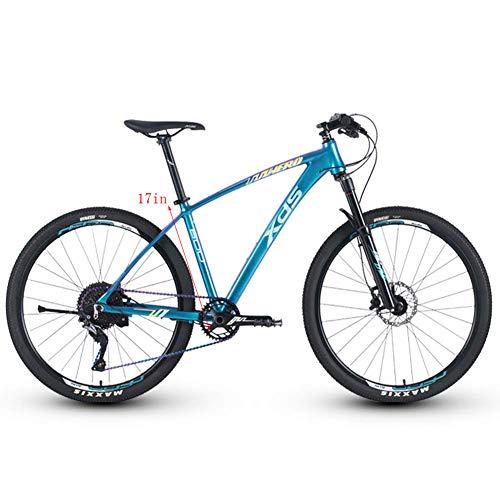 Qj Aluminio Bicicleta De Montaña 11 Velocidad, 27.5 Pulgadas Ruedas Grandes De Bicicletas De Montaña Rígidas, para Hombre De La Montaña Carril Bici, Asiento Ajustable,17in
