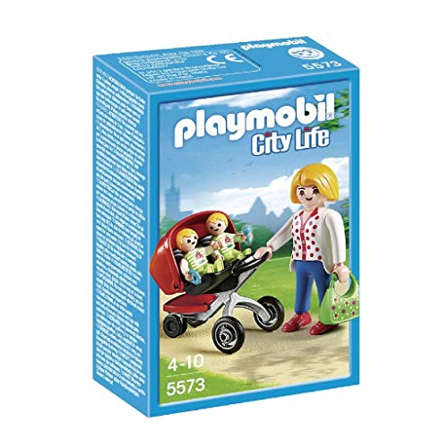 Playmobil Guardería - Mamá con carrito de gemelos, playset (5573)