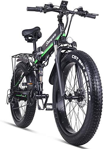Sheng Milo Beach Bicicleta eléctrica 26 Pulgadas 1000W Crucero Todoterreno Carreras de montaña 21...*