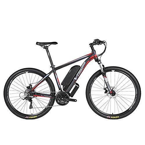 D&XQX Bicicleta eléctrica Montaña (26-29 Pulgadas), con Gran Capacidad extraíble de Iones de Litio (36V 250W), Bicicleta eléctrica 24 Speed Gear y Modos de Trabajo de Tres,Rojo,26 * 15.5in