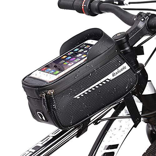 Bolsas de Bicicleta, Bolsa Impermeable para Bicicleta con Orificio para Auriculares, Cremallera...*