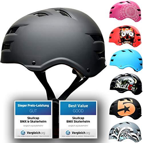 SkullCap® Casco de Skate y BMX - Bicicleta Y Scooter Eléctrico, Diseño: Dark World, Talla: M...*