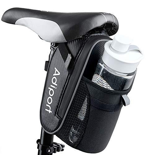 Adiport Bolsa de Sillín de Bicicleta,impermeable Bolsas de asiento de bicicleta con Botella de...*