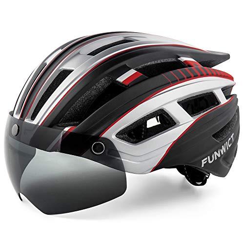 FUNWICT Casco Bicicleta Hombre Casco MTB con Gafas Magnéticas Extraíbles y Forro Interior Casco...*