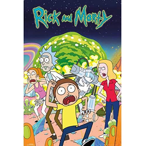 Grupo Erik Editores Poster con diseño Rick and Morty*