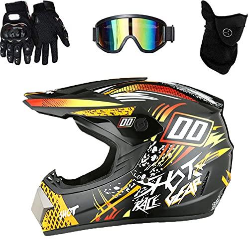 XIAOBUDIAN - Casco de motocross para niños, casco de bicicleta de montaña, todoterreno, para...*