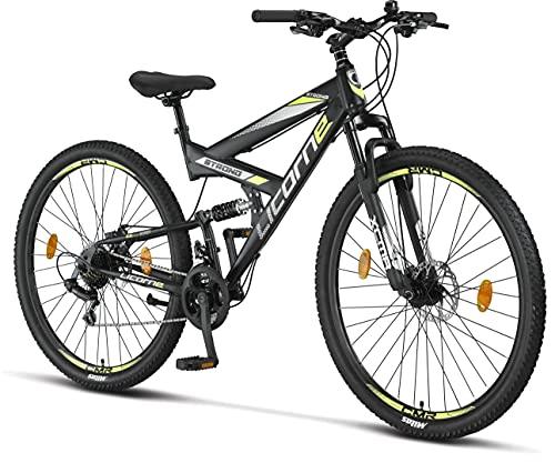 Licorne Bike Bicicleta de montaña Strong 2D, para niños, niñas, mujeres y hombres, freno de disco...*