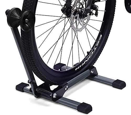 LYCAON Soporte de Suelo para Bicicleta (Último Gris), Aparcamiento para Bicicleta Plegable y Portátil - Lite