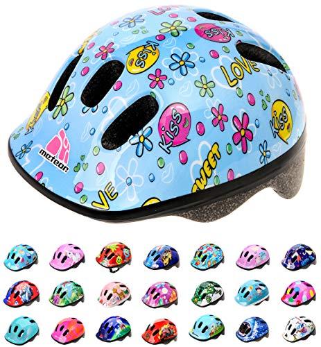 Casco Bicicleta Bebe Helmet Bici Ciclismo para Niño - Cascos para Infantil Bici Helmet para Patinete Ciclismo Montaña BMX Carretera Skate Patines monopatines MV6-2 (XS(44-48cm), Kiss Love)