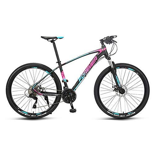 Bicicleta,Bicicleta de montaña de 27,5 pulgadas, Bicicleta de 27 velocidades, Con marco de aleación de aluminio ultraligero, Para adultos y adolescentes, fácil de instalar, Se adapta a varios ter