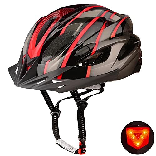 Shinmax Casco Bicicleta Adulto Casco Bicicleta con luz Casco Bicicleta Hombre Mujere,Casco Bicicleta...*