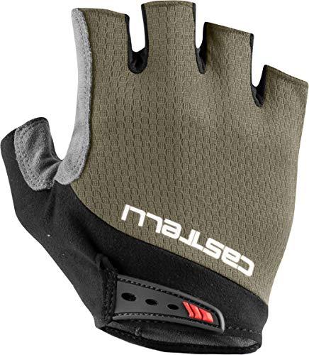 CASTELLI Entra V Glove - Guantes de ciclismo para hombre, Hombre, 4521075-364, bark green, X-Large*