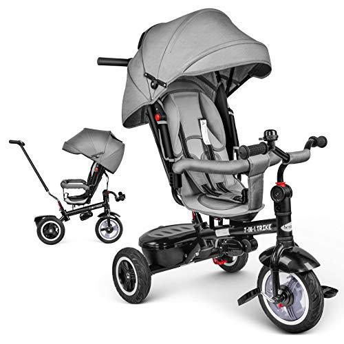 besrey Triciclo Evolutivo Bebé para Niños de 1 a 6 Años, Triciclo Bebé Reclinable, Pedales...*